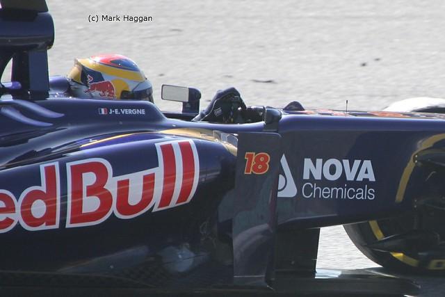 Jean-Eric Vergne's Torro Rosso in Formula One Winter Testing 2013