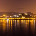 """""""空清水靜如龍鳳 夜夢金輝滿江紅"""" / 香港中文大學全景夜之寧 The Chinese University of Hong Kong (CUHK) Panoramic Night Serenity / SML.20130306.7D.26377-SML.20130306.7D.26385-Pano.003.Rectilinear.90x94.P1.L1"""
