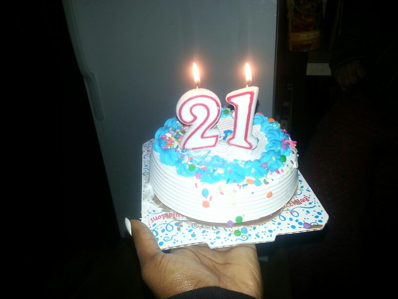 Astonishing Carvel 21St Birthday Cake This Is A Photo Taken Of A Small Flickr Funny Birthday Cards Online Elaedamsfinfo