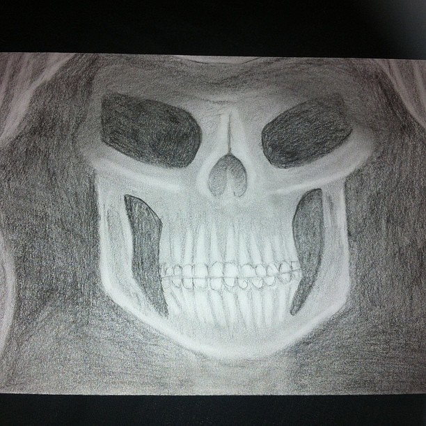 Pencil Drawing Sketch Skull Grimreaper Student Uni Flickr