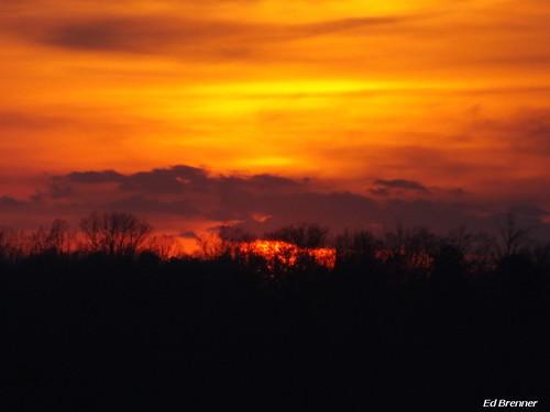 sunset night colorful northcarolina rowancounty