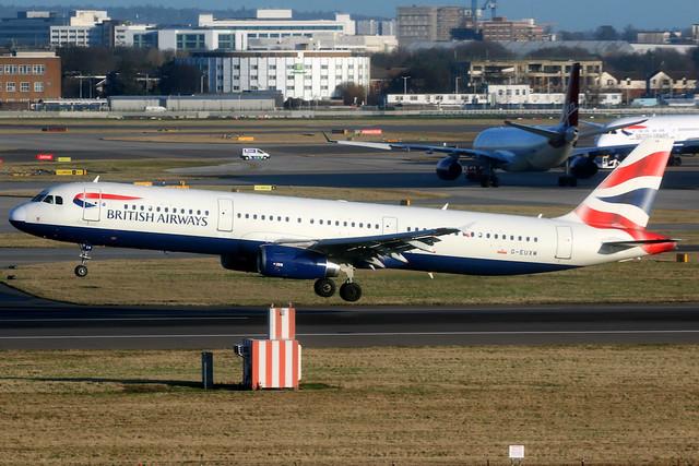 British Airways   Airbus A321-200   G-EUXM   London Heathrow
