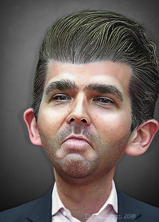 Donald Trump Jr. - Caricature | by DonkeyHotey