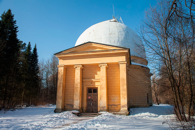 Pulkovo observatory pavilion for the large refractor telescope