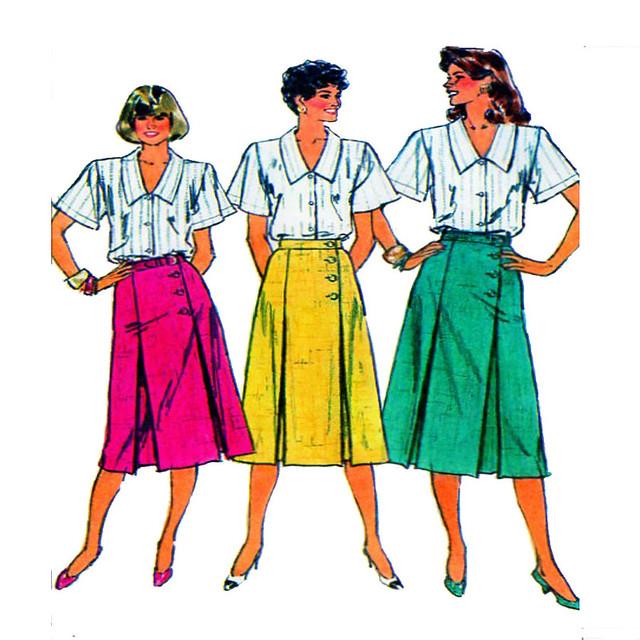 Simplicity 7920 women skirt pattern
