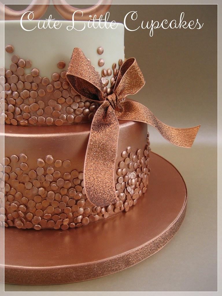 Peachy Rose Gold 30Th Birthday Cake Heidi Stone Flickr Personalised Birthday Cards Epsylily Jamesorg