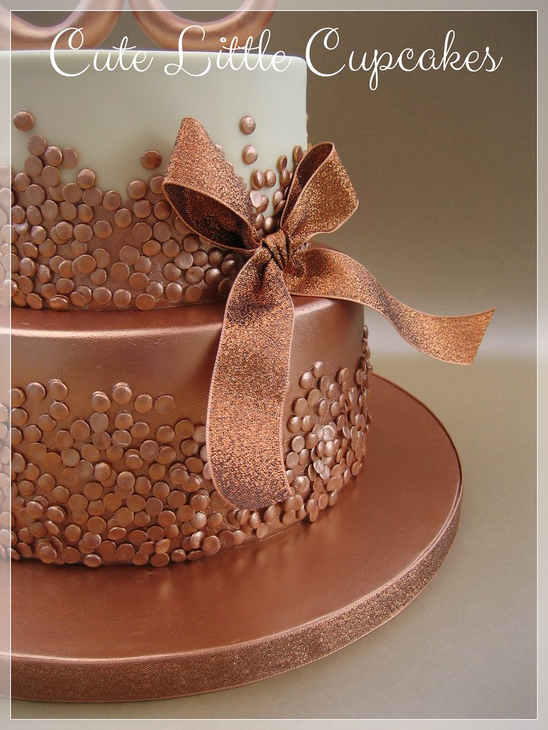 Brilliant Rose Gold 30Th Birthday Cake Heidi Stone Flickr Funny Birthday Cards Online Overcheapnameinfo