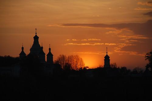 sunset sky tree monastery монастырь закат ngc domes spring russia tula greatphotographers cross faith cupola