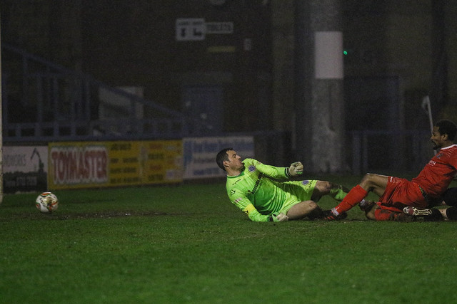 during the Evo-Stik  League South Premier match between  Dorchester Town FC and St Neots Town FC