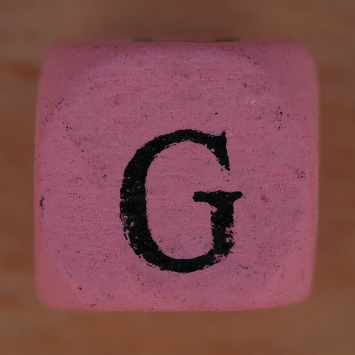Coloured bead letter G | by Leo Reynolds