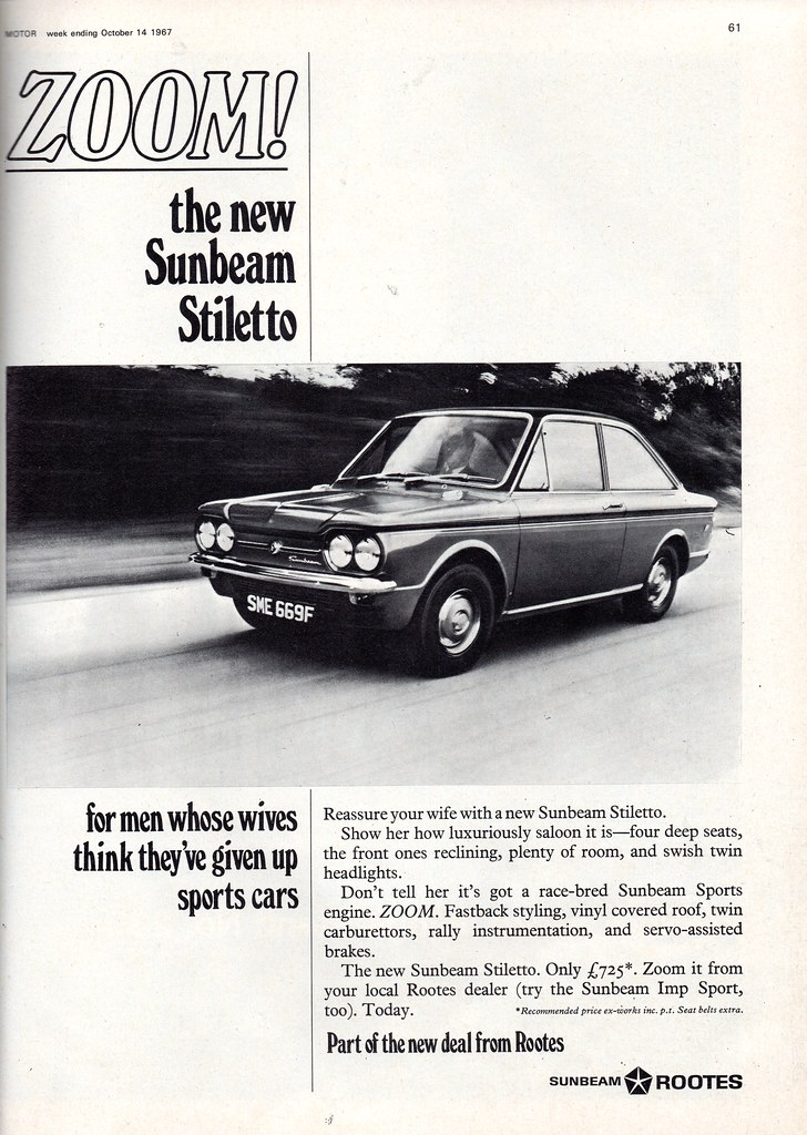 Sunbeam Stiletto Advert 1967