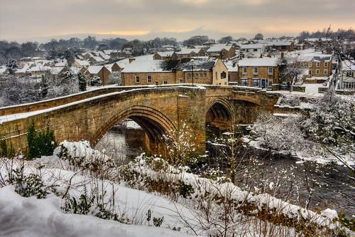 bridge winter snow mill ice river frost day arch january barnardcastle rivertees countybridge pwwinter