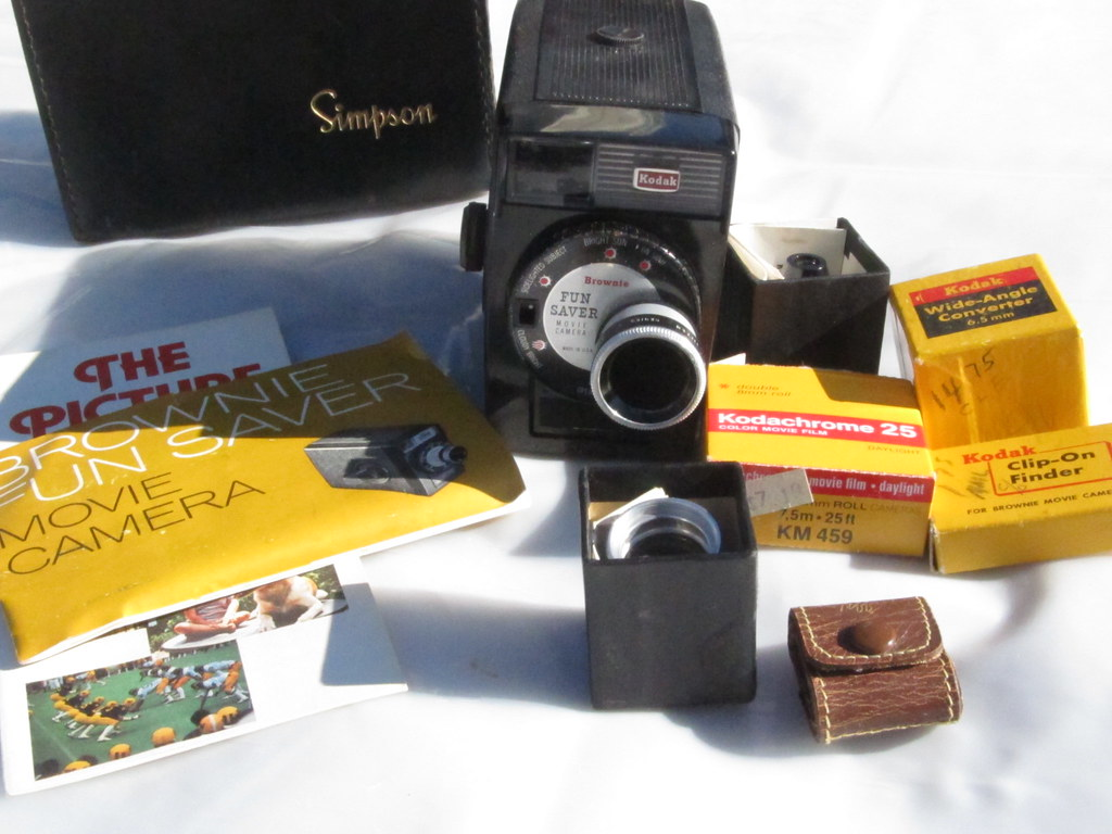 We have this vintage Kodak Fun Saver Video Camera with acc