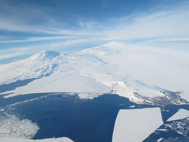 Mt Erebus and McMurdo Sound - Antarctica