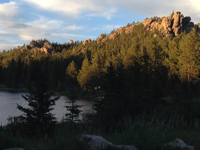 Sunset at Sylvan Lake, Custer State Park