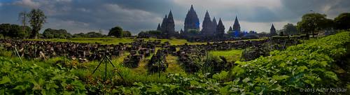 indonesia landscape yogyakarta panaroma prambanan