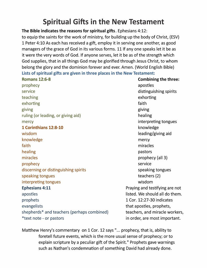 Spiritual gift lists   I uploaded this so I can use it on my…   Flickr