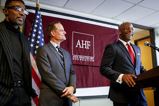 AHF/REP Isadore Hall Condom Law Press Conference | by aidshealth