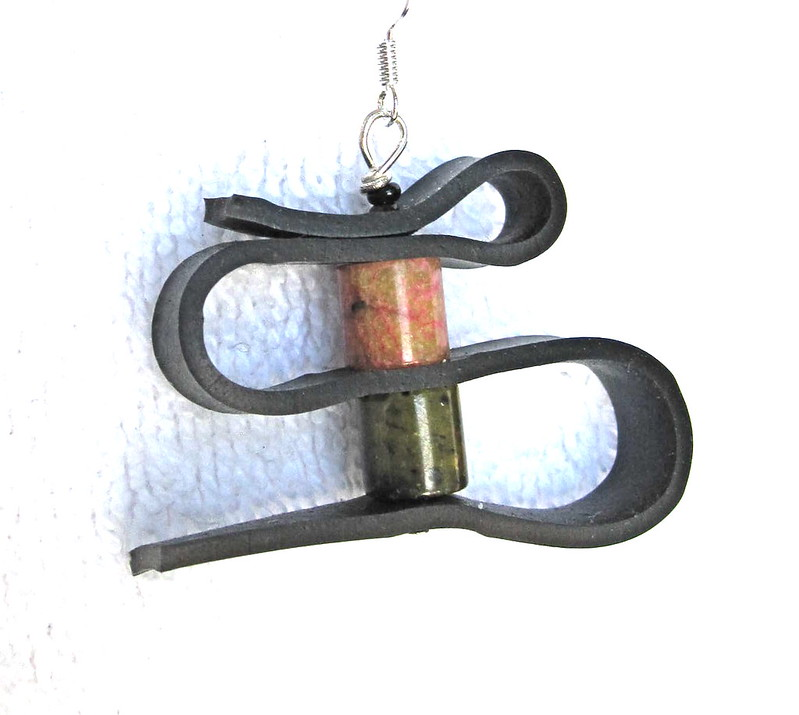 Groovy Garbage upcycled inner tube earrings