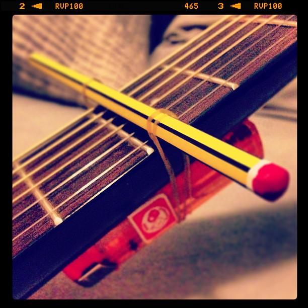 My Attempt Of A Homemade Capo Guitar Capo Homemade