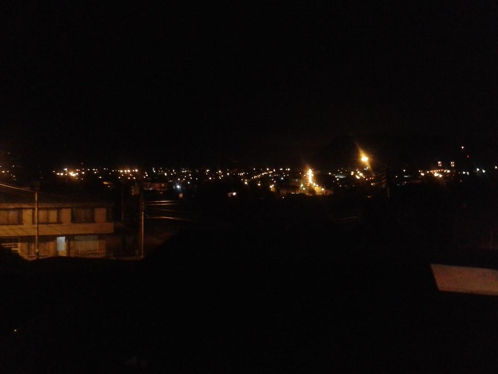 Zipaquira De Noche Desde La Terraza De Mi Casa Serqueg10