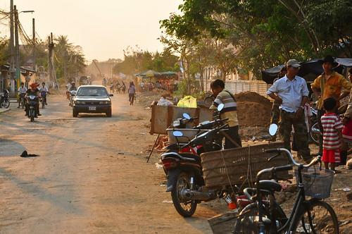 street sunset cambodge cambodia rue coucherdesoleil kampongthom kampuchea