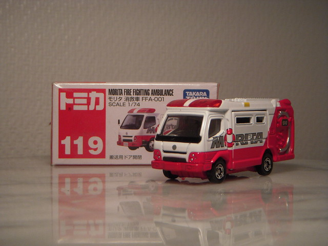 Morita Fire Fighting Ambulance 1:74 Diecast by Tomica