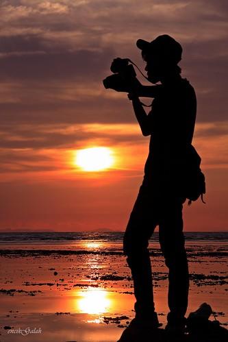 sunset sun silhouette malaysia kualaperlis encikgalah
