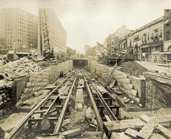 Dupont Circle underpass construction, 1949