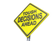 Tough Decisions Ahead White BG | by One Way Stock