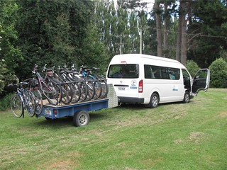 Van and Trailer | by Mountain Bike Mt Cook, New Zealand