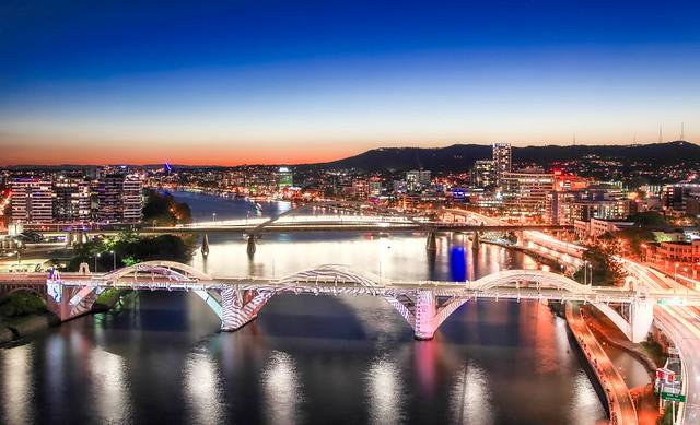 William Jolly Bridge  Brisbane sunset _HDR