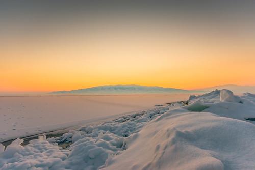 winter sunset snow ice clouds harbor boat frozen utah fishing nikon inversion watersports utahlake freshwater d800 1635 utahcounty americanfork nikkorafs1635mmf4gedvr largestnaturallake
