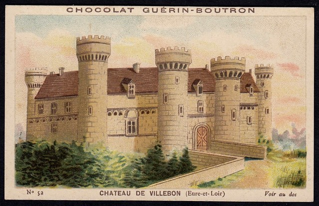 French Tradecard - Chateau de Villebon