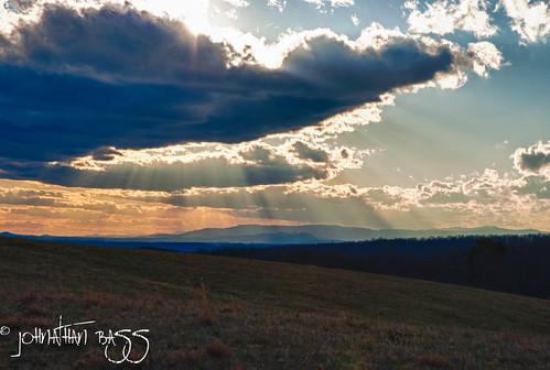 light sunset sun field set clouds landscape nikon rays sunrays blueridgemountains hdr clearing d80