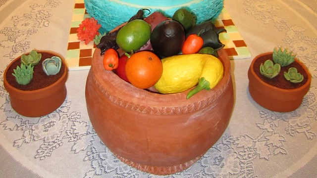 Groom's cake - gumpaste