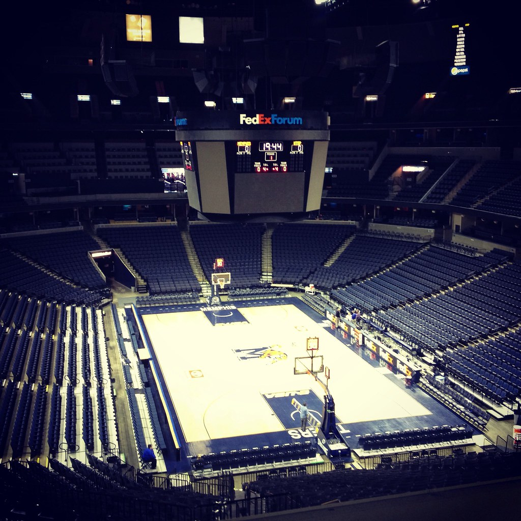 FedExForum, Empty | FedExForum, as seen from the Opus Lounge… | Flickr