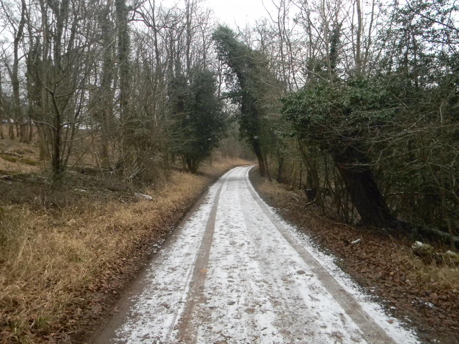 Snowy path 3 Tring to Berkhamsted (via shortcut)