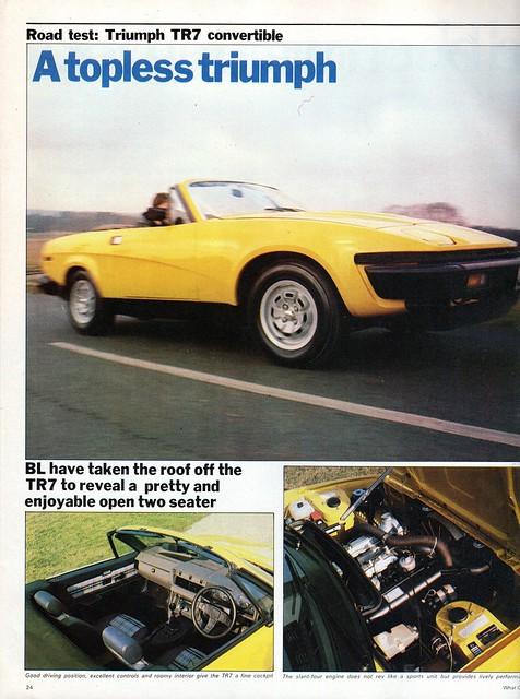 Triumph TR7 Convertible Road Test 1980 (1)