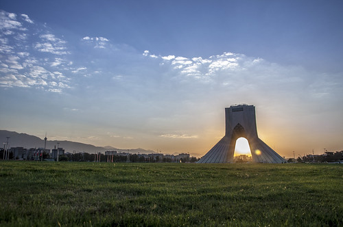iran azadi azadisquare sunrise grass sky miladtower morning sun azaditower tehran nikond90 clouds