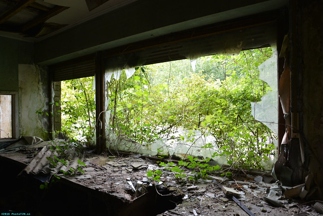 Abandoned buildings in Sprimont.