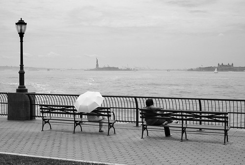 Umbrella on the Hudson   by tehgipster