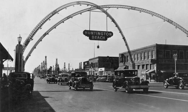 Pacific Coast Highway at Main St., Huntington Beach, circa 1938