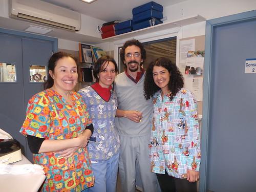 Spanish vets: Dr. Victoria, Dr. Iris, Dr. Pedro & I | by Rayya The Vet
