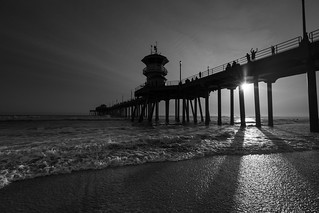 Huntington Beach Pier in Black and White | by JMG Images