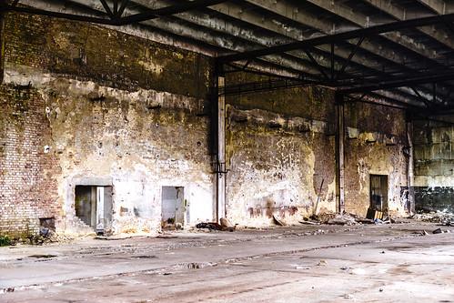 The old welder empty hall