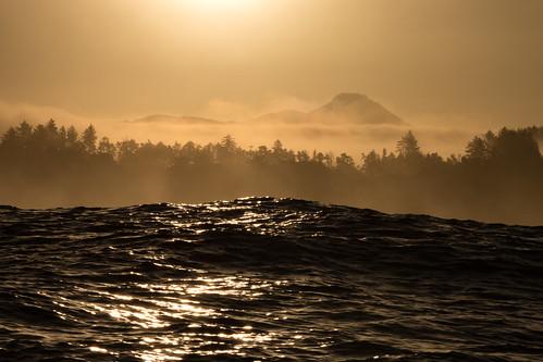 depoebay oregon coast swell wave water sunrise