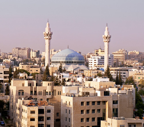 city travel autumn sun tourism beautiful sunrise buildings muslim traditional capital religion middleeast landmark mosque tourist jordan whitecity destination local minarets capitalcity ammam kingabdullahimosque