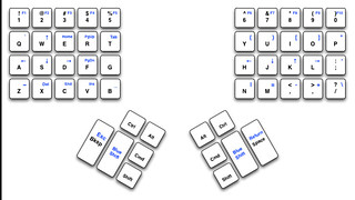 A reduced travel keyboard layout | by jesse