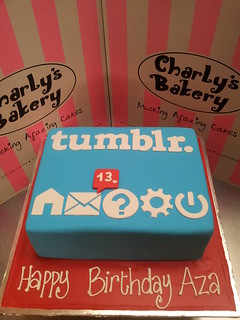 Tremendous A4 Tumblr Logo Wicked Chocolate Cake Covered In Fondant Ic Flickr Funny Birthday Cards Online Fluifree Goldxyz